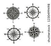 rose of winds symbol of... | Shutterstock .eps vector #1230499498