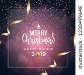 christmas vector festive... | Shutterstock .eps vector #1230499648