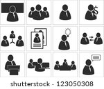 business pictogram vector... | Shutterstock .eps vector #123050308