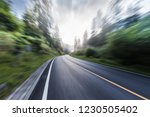 the highway is in green forest.   Shutterstock . vector #1230505402