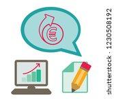 euro repeat arrows flat vector...   Shutterstock .eps vector #1230508192