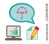 umbrella icon.graphic flat icon ...   Shutterstock .eps vector #1230508228