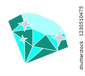 vector jewelry stone diamond... | Shutterstock .eps vector #1230510475