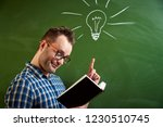 a young disheveled man with...   Shutterstock . vector #1230510745
