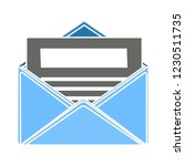 web mail message isolated... | Shutterstock .eps vector #1230511735