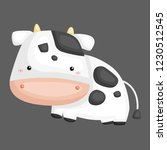 a vector of a cute and adorable ... | Shutterstock .eps vector #1230512545