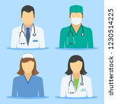medical icons. doctor and nurse ... | Shutterstock .eps vector #1230514225