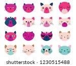 vector illustration set of cute ... | Shutterstock .eps vector #1230515488