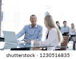 beautiful young business... | Shutterstock . vector #1230516835