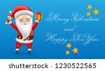 the man in the red suit with... | Shutterstock .eps vector #1230522565