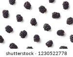 fruit pattern of blackberries... | Shutterstock . vector #1230522778