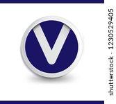 v letter in circle icon logo... | Shutterstock .eps vector #1230529405