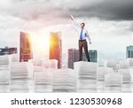 businessman keeping hand with...   Shutterstock . vector #1230530968