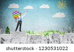 businessman keeping hand with...   Shutterstock . vector #1230531022