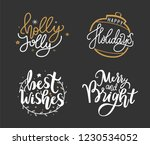best wishes  happy holidays ...   Shutterstock .eps vector #1230534052