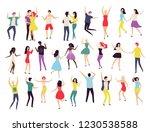 dancing people  waltz classic... | Shutterstock .eps vector #1230538588