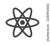 atom glyph black icon | Shutterstock .eps vector #1230542602