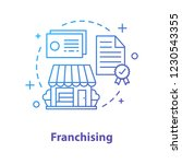 franchising concept icon.... | Shutterstock .eps vector #1230543355