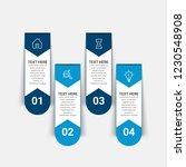 modern infographics template   Shutterstock .eps vector #1230548908