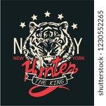 hunter slogan with tiger head... | Shutterstock .eps vector #1230552265