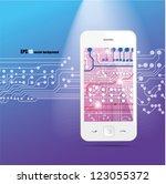 cloud computing. smart phone... | Shutterstock .eps vector #123055372