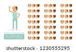 vector adult man in doctor coat ...   Shutterstock .eps vector #1230555295