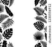 tropical leaves background.... | Shutterstock .eps vector #1230556912