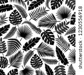 tropical leaves background.... | Shutterstock .eps vector #1230556918
