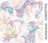 vector botanical seamless... | Shutterstock .eps vector #1230557932
