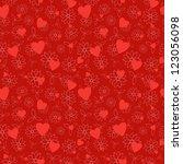valentine's day flowers... | Shutterstock .eps vector #123056098
