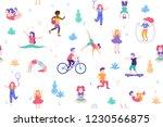 children doing activities and... | Shutterstock .eps vector #1230566875
