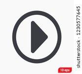 play video vector icon   Shutterstock .eps vector #1230577645