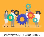 characters of business people... | Shutterstock .eps vector #1230583822