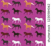 seamless horse pattern on a... | Shutterstock .eps vector #1230584062