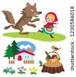 little red riding hood vector... | Shutterstock .eps vector #1230586018