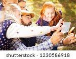 helpful pupil. positive...   Shutterstock . vector #1230586918