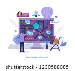online store where to buy... | Shutterstock .eps vector #1230588085