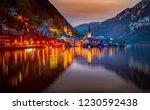 hallstatt  austria   famous... | Shutterstock . vector #1230592438