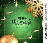 christmas vector festive green... | Shutterstock .eps vector #1230595798