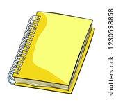office supplies notepad on a... | Shutterstock .eps vector #1230598858