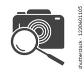image search glyph black icon | Shutterstock .eps vector #1230601105