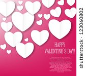 valentines day paper heart... | Shutterstock .eps vector #123060802