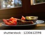 healthy nutritious lunch | Shutterstock . vector #1230612598