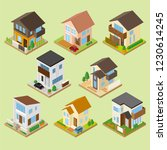 cute three dimensional house | Shutterstock .eps vector #1230614245