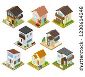 cute three dimensional house | Shutterstock .eps vector #1230614248