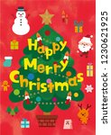 christmas cute characters and... | Shutterstock .eps vector #1230621925