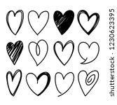 collection of twelve heart... | Shutterstock .eps vector #1230623395