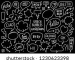 vector collection of sketched... | Shutterstock .eps vector #1230623398