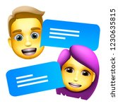 chat bot man and woman emoji ... | Shutterstock .eps vector #1230635815