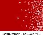 winter snowflakes border magic... | Shutterstock .eps vector #1230636748